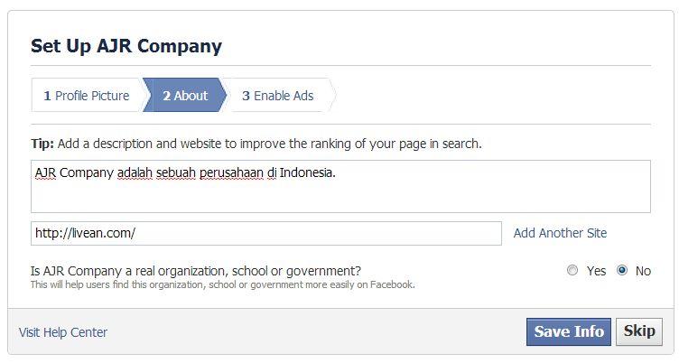 Cara Membuat Page Facebook