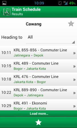 Aplikasi Android Jadwal Rute Kereta